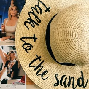 Floppy Embroidered Straw SunHat (Talk to the Sand)